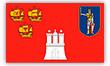 Flagge / Fahne Hamburg  mit Bad  Bramst und Eiderstedt