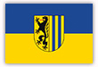Flagge / Fahne  Stadt Leipzig