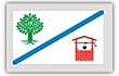 Flagge / Fahne Gemeinde Bornholt