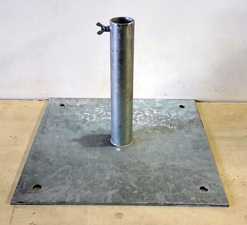 Flanschplatte alfa TF55 aus Stahl