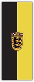 Hochformatfahne  Bundesland Baden Württemberg