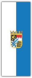 Hochformatfahne Bundesland Bayern