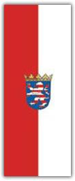 Hochformatfahne Bundesland Hessen