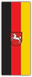 Hochformatfahne Bundesland Niedersachsen