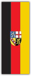 Hochformatfahne Bundesland Saarland