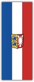 Hochformatfahne Bundesland Schleswig-Holstein
