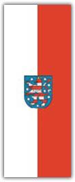 Hochformatfahne Bundesland Thüringen