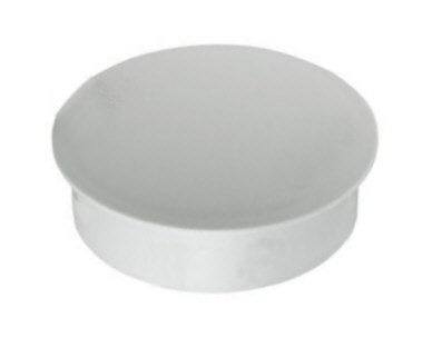 Deckel für Passform-Bodenhülse aus Aluminium f. Mast Ø=90mm