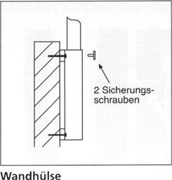 Wandhülse aus Stahl für Masten mit Ø 75mm