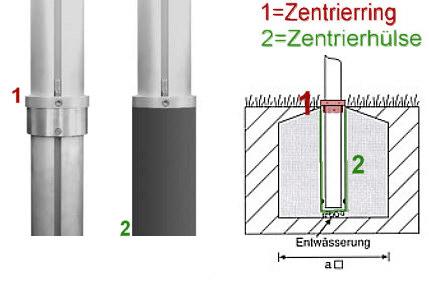 Zentrierhülse für zylindr.  Aluminium-Fahnenmasten, Ø 90mm, ohne Verdreh- und Entnahmeschutz