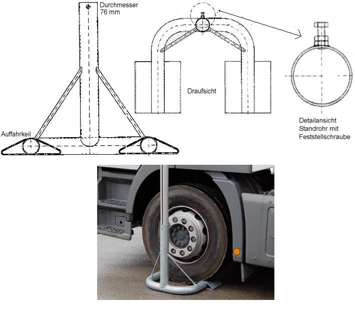 Mastfuß - mobil - PKW + LKW