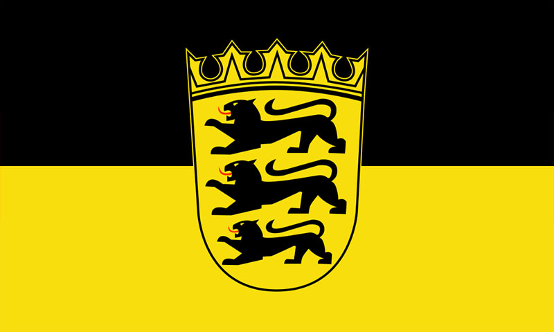 Hochformatfahne  Bundesland Baden W�rttemberg