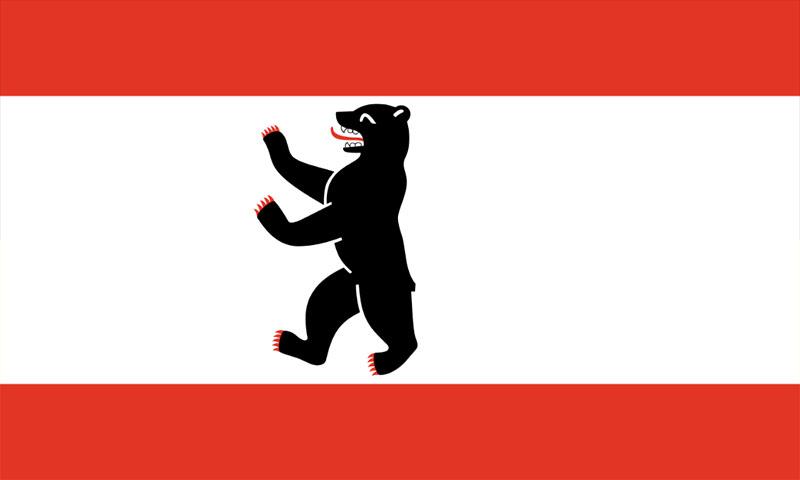 Hochformatfahne Bundesland Berlin