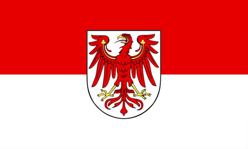 Hochformatfahne Bundesland Brandenburg