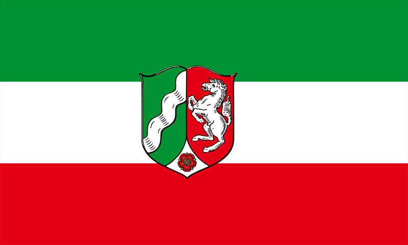 Hochformatfahne Bundesland NRW