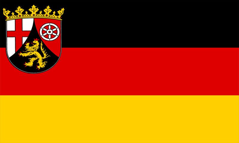 Hochformatfahne Bundesland Rheinland-Pfalz