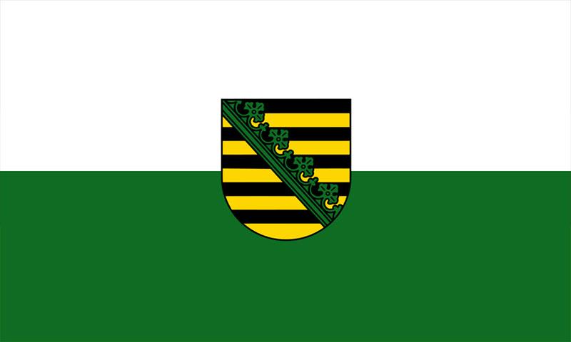 Hochformatfahne Bundesland Sachsen