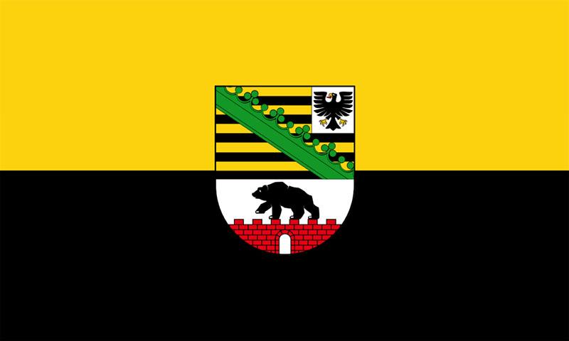 Hochformatfahne Bundesland Sachsen-Anhalt