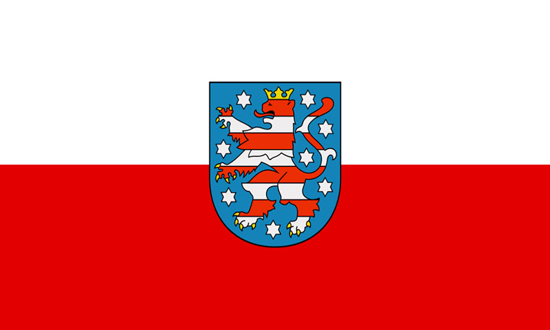 Hochformatfahne Bundesland Th�ringen