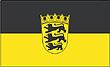 Querformatflagge 150x100 cm  Bundesland Baden Württemberg