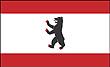 Querformatflagge 150x100 cm Bundesland Berlin