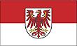 Querformatflagge 150x100 cm Bundesland Brandenburg