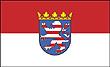 Querformatflagge 150x100 cm Bundesland Hessen