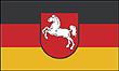 Querformatflagge 150x100 cm Bundesland Niedersachsen