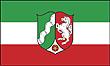 Querformatflagge 150x100 cm Bundesland NRW