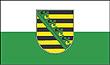 Querformatflagge 150x100 cm Bundesland Sachsen