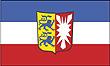 Querformatflagge 150x100 cm Bundesland Schleswig-Holstein