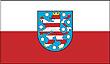 Querformatflagge 150x100 cm Bundesland Thüringen