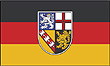 Querformatflagge 150x100 cm Bundesland Saarland