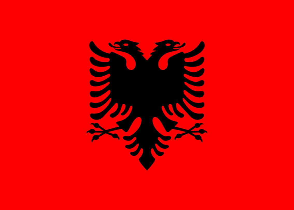 Flagge im Querformat Land Albanien 150x100 cm