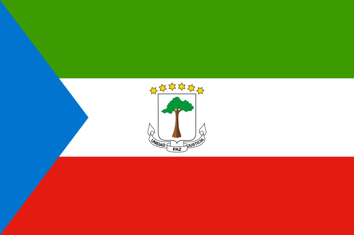 Flagge im Querformat Land Äquatorial Guinea 150x100 cm