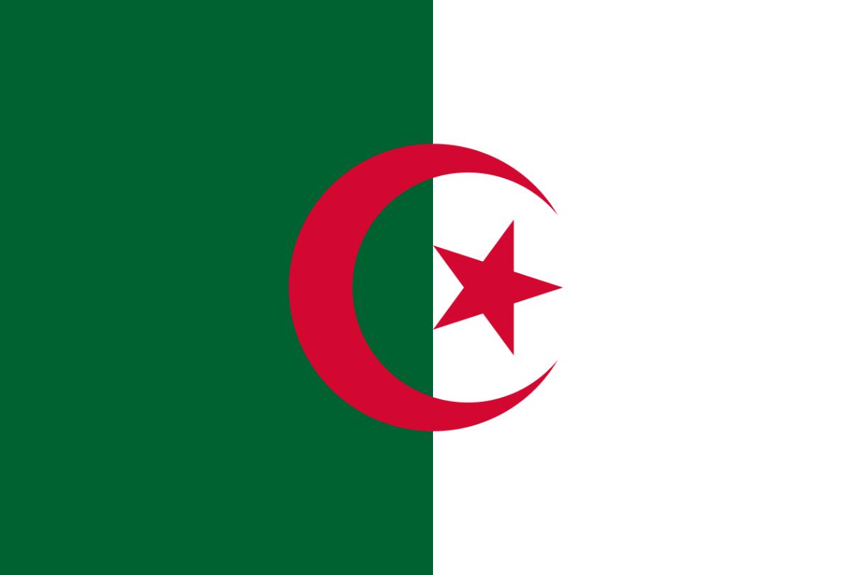 Flagge im Querformat Land Algerien 150x100 cm