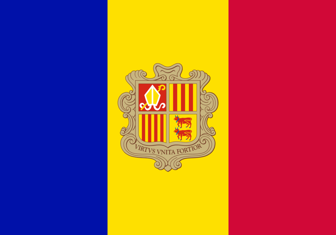 Flagge im Querformat Land Andorra 150x100 cm