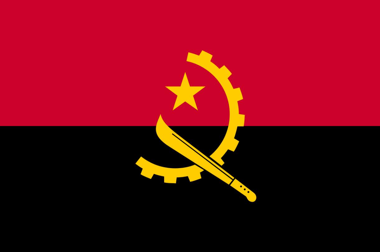 Flagge im Querformat Land Angola 150x100 cm