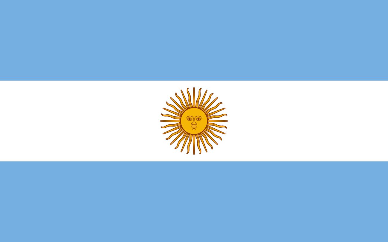 Flagge im Querformat Land Argentinien 150x100 cm