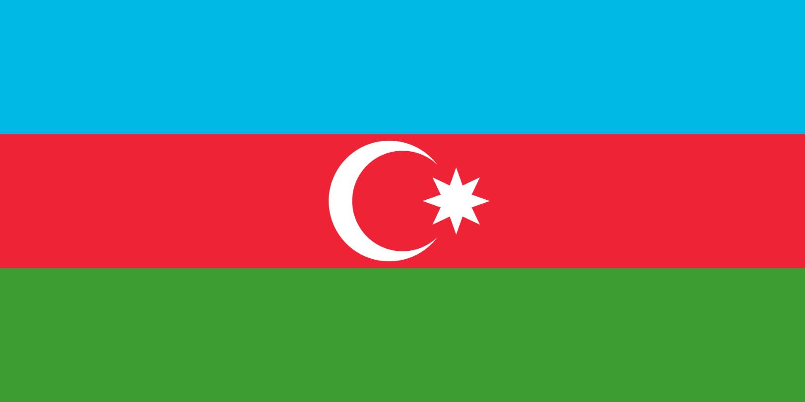 Flagge im Querformat Land Aserbeidschan 150x100 cm