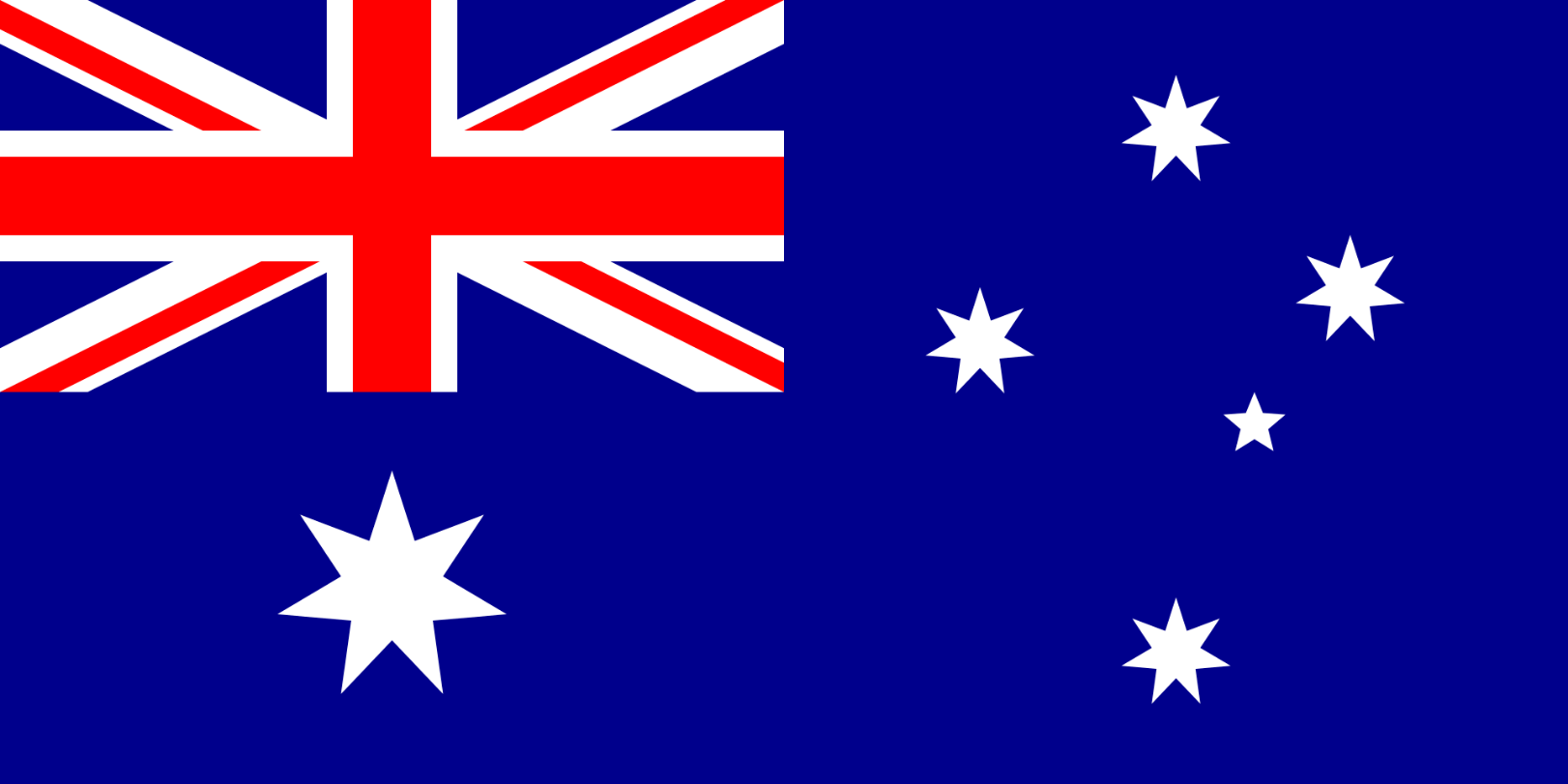 Flagge im Querformat Land Australien 150x100 cm