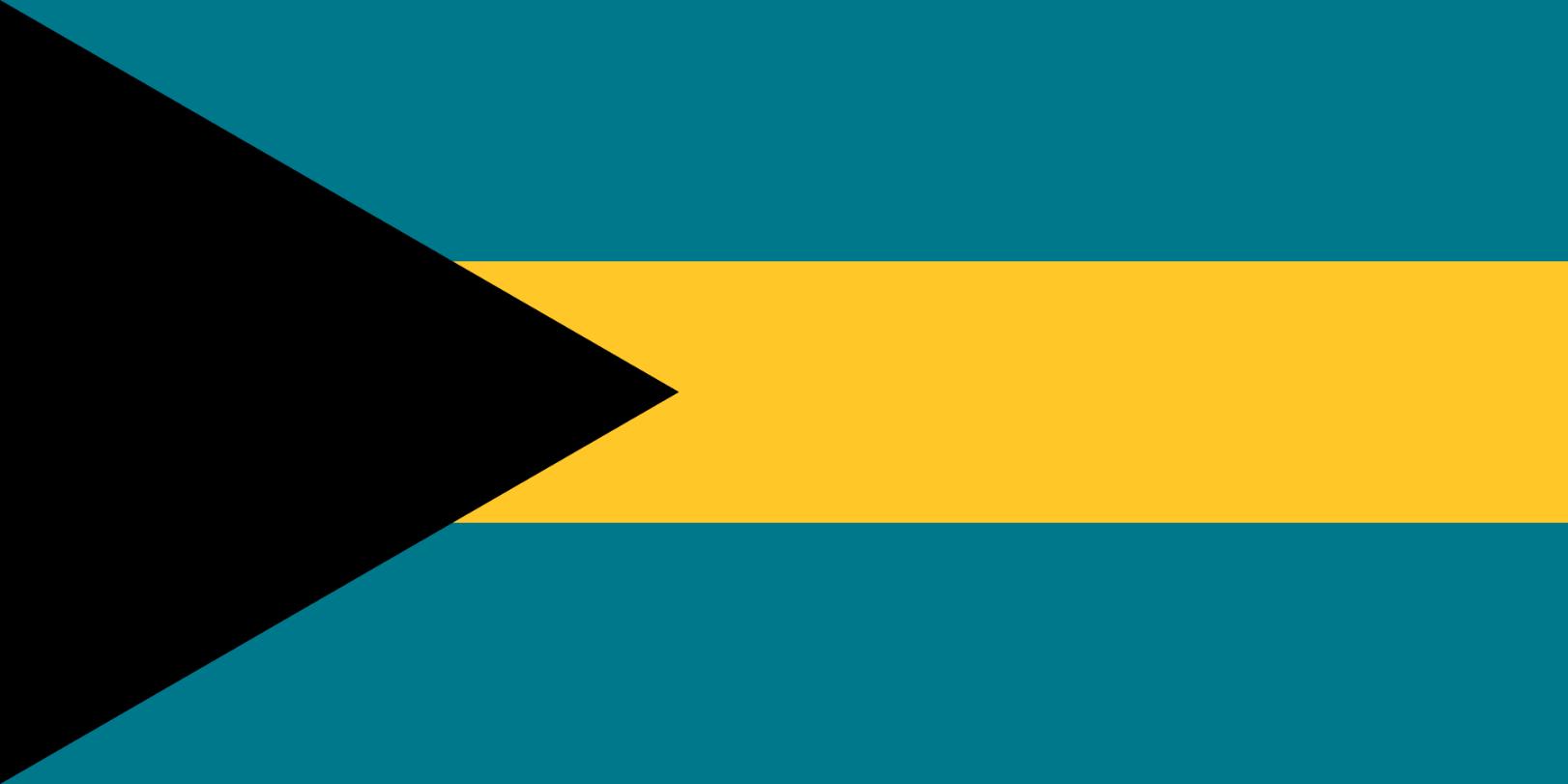 Flagge im Querformat Land Bahamas 150x100 cm