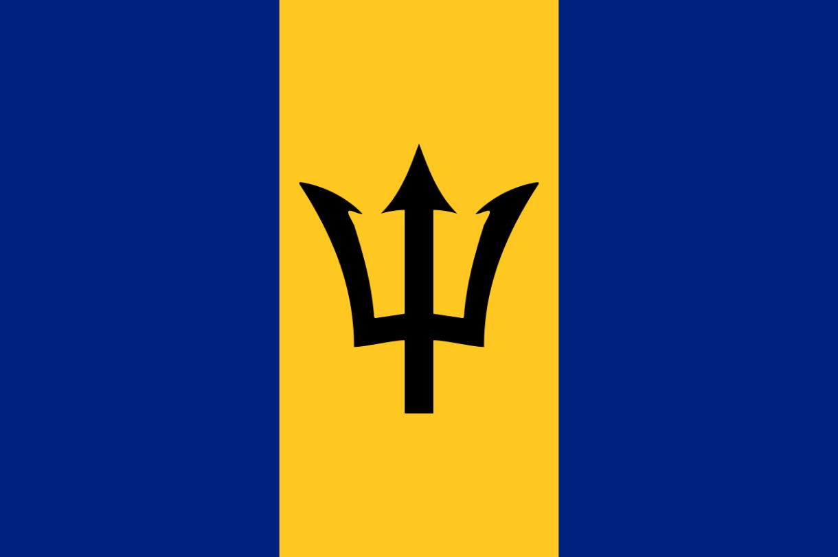 Flagge im Querformat Land Barbados 150x100 cm