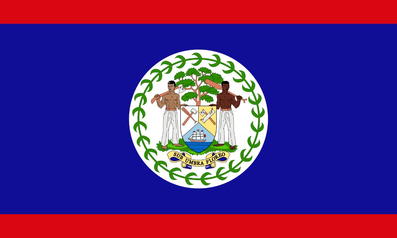 Flagge im Querformat Land Belize 150x100 cm