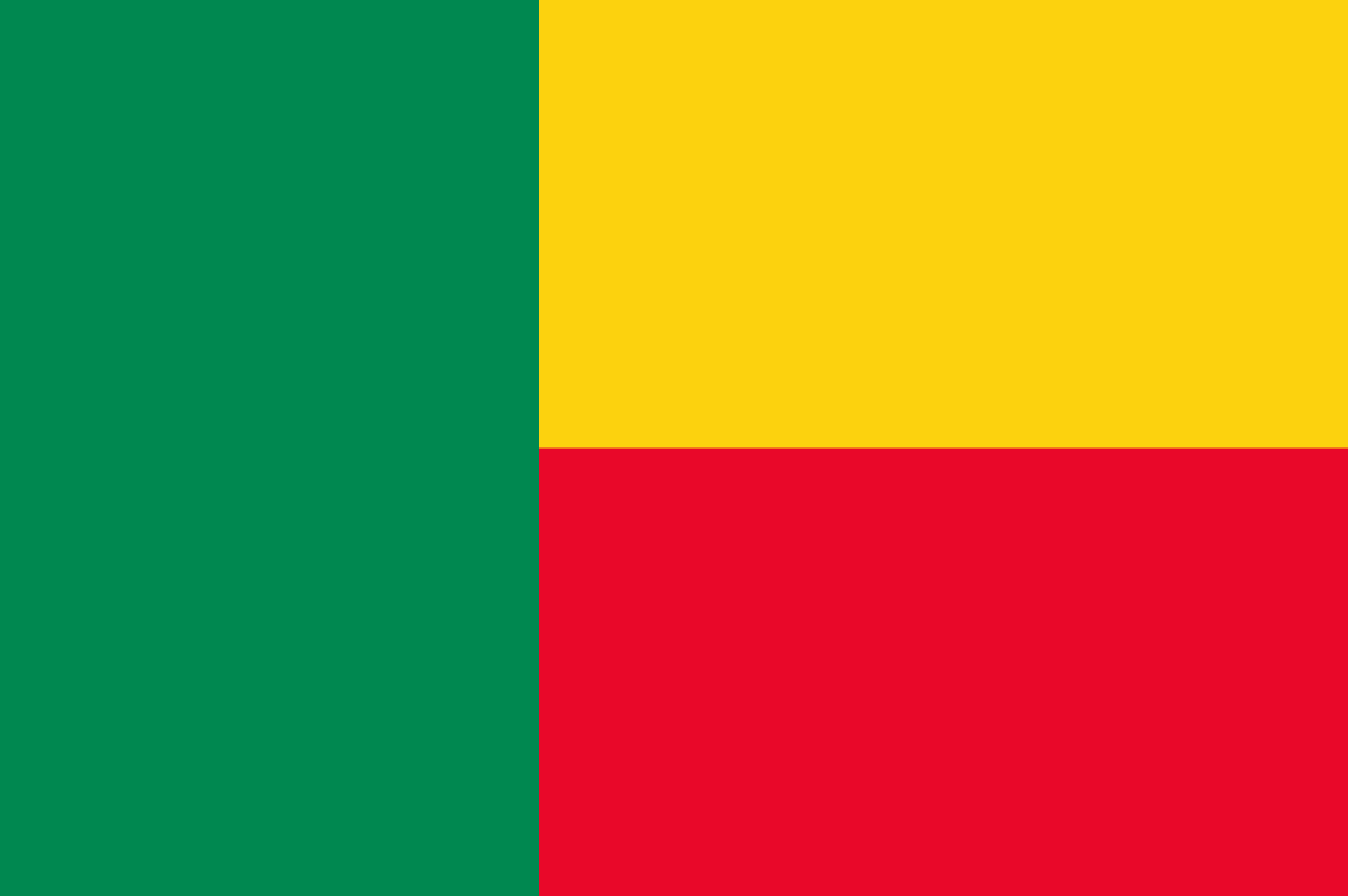Flagge im Querformat Land Benin 150x100 cm