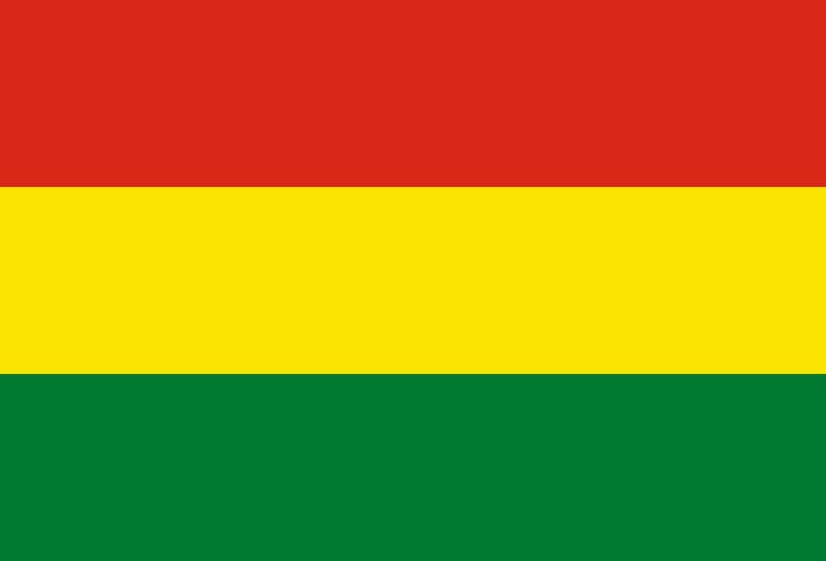 Flagge im Querformat Land Bolivien 150x100 cm