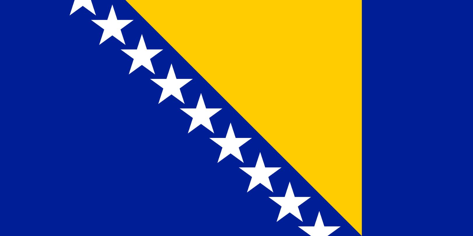 Flagge im Querformat Land Bosnien-H. 150x100 cm