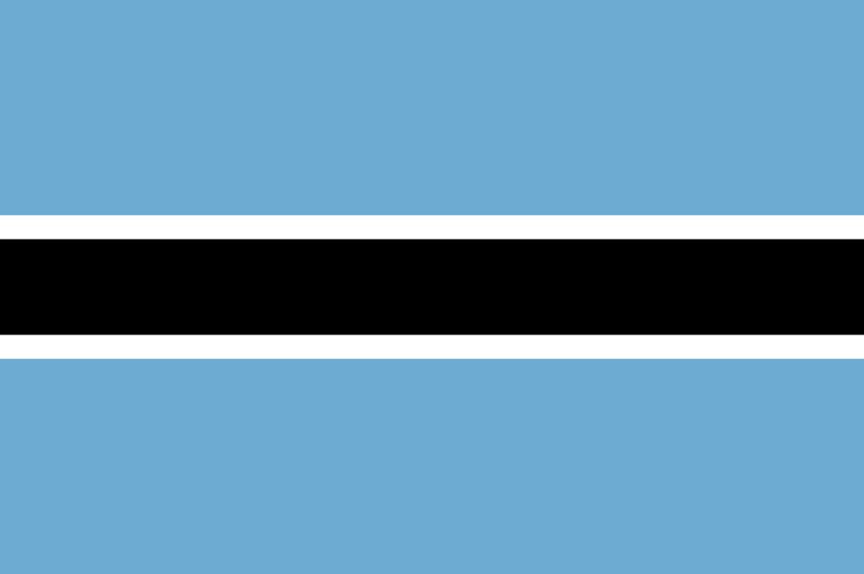 Flagge im Querformat Land Botswana 150x100 cm