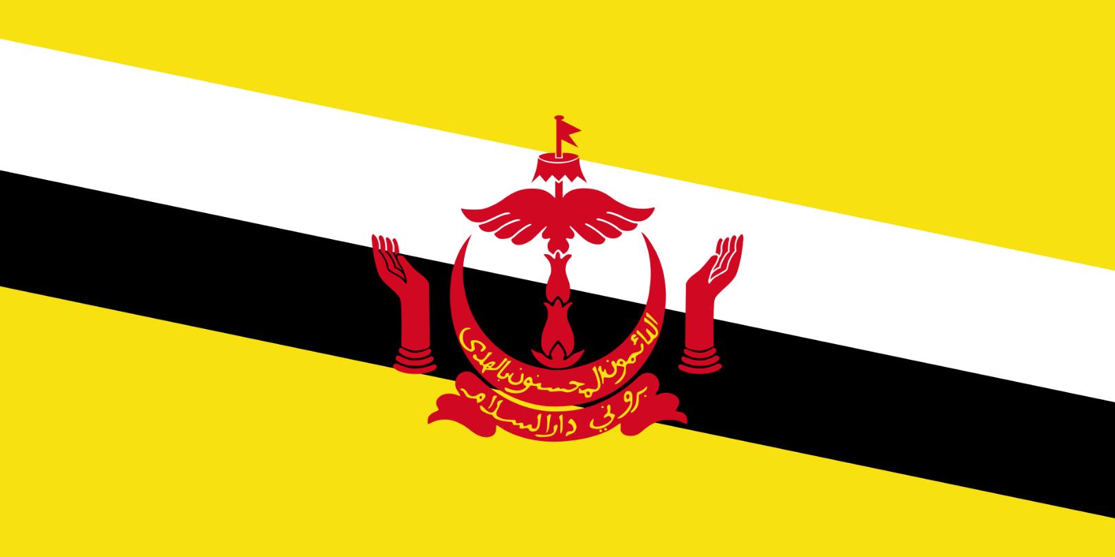 Flagge im Querformat Land Brunei150x100 cm
