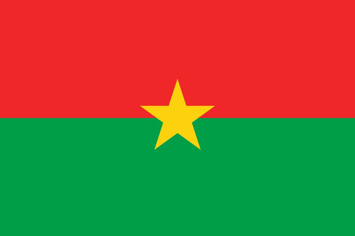 Flagge im Querformat Land Burkina Faso 150x100 cm